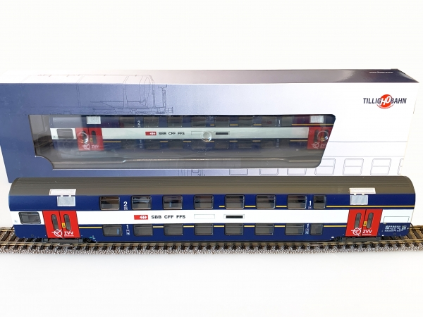 Tillig H0 73812 Doppelstockwagen der SBB 2 Klasse